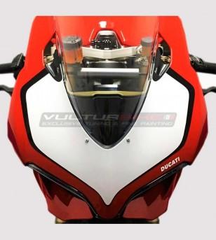 Adesivo tabella portanumero bianco/nero - Ducati Panigale 899/1199