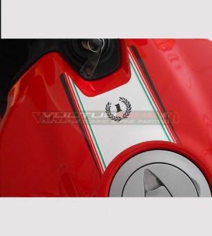 Tank's sticker tricolor band - Ducati 899/1199 Panigale