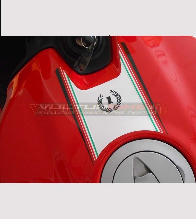 Adesivo fascia tricolore per serbatoio  - Ducati 899/1199 Panigale