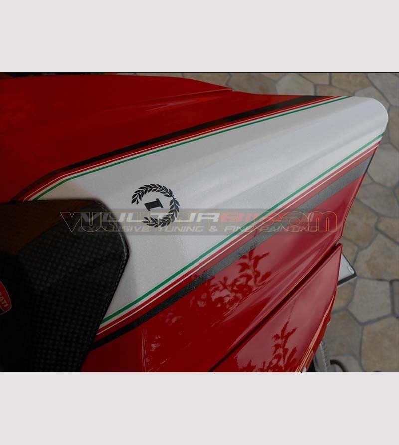 Tail's sticker tricolor band - Ducati 899/1199 Panigale