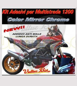 Kit adesivi mirror chrome - Ducati Multistrada 1200 2010/14