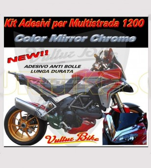 Mirror Chrome Sticker Kit - Ducati Multistrada 1200 2010/14