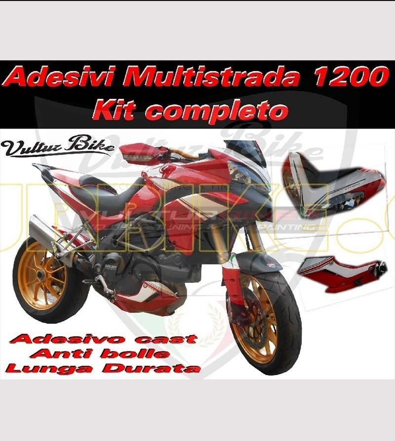 Kit de pegatinas personalizados - Ducati Multistrada 1200 2010/14