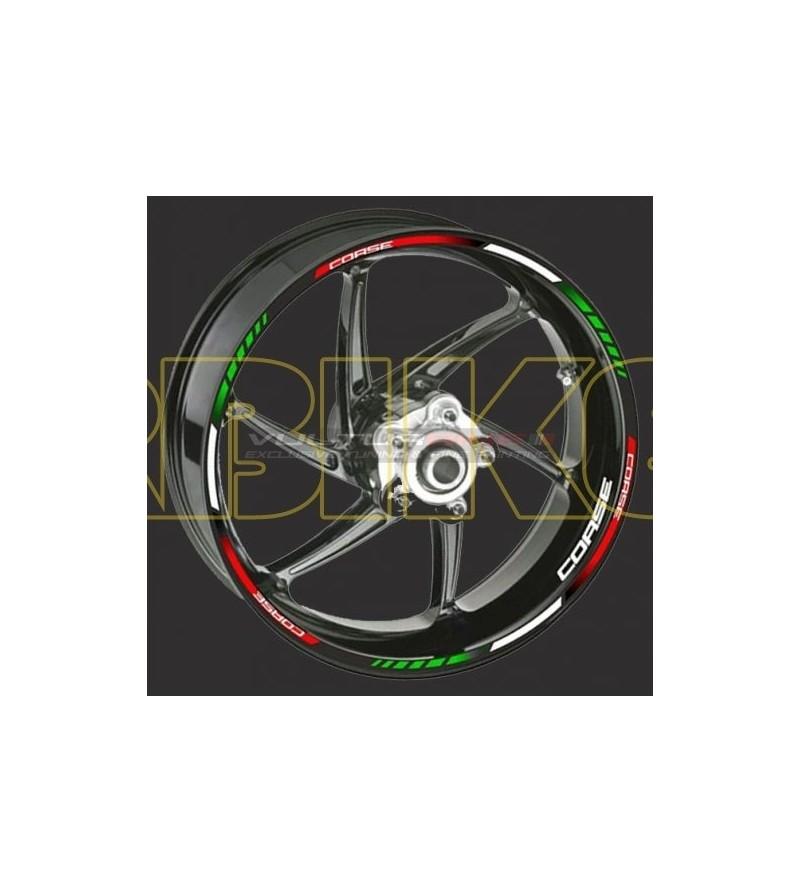 Adesivo Ruote Tricolore Corse - Universale