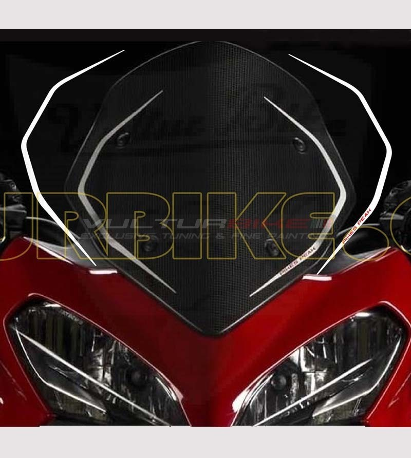 Adesivi per parabrezza replica Pikes Peak - Ducati Multistrada 1200 2013/14