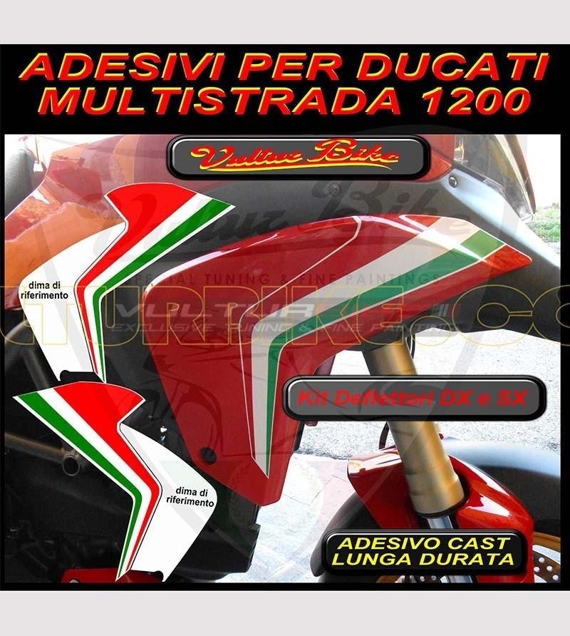 Stickers' kit for deflectors - Ducati Multistrada 1200 2010/14