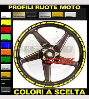 Kit 18 pegatinas universales de colores para ruedas