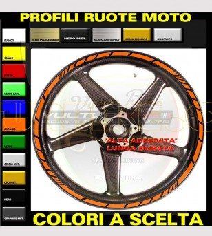 Kit 18 universal colored stickers for wheels