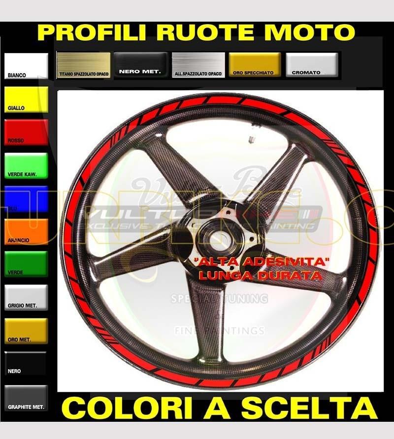 Kit 18 adesivi colorati universali per ruote