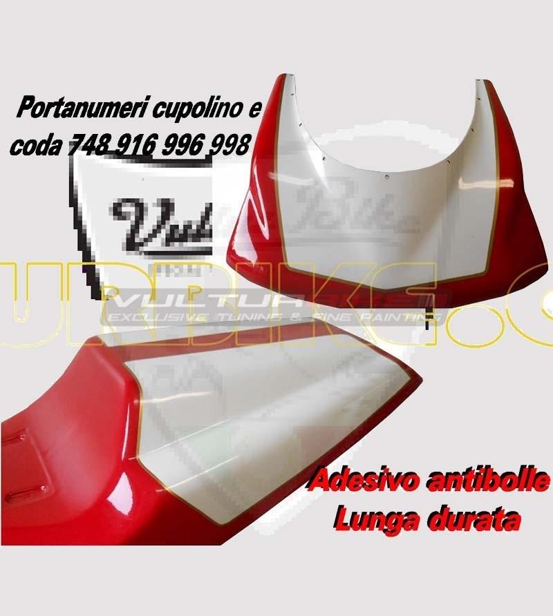 Pegatina de la mesa del número de carrera - Ducati 748/916/996/998