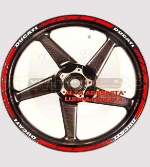 Perfiles adhesivos personalizables para llantas - Ducati