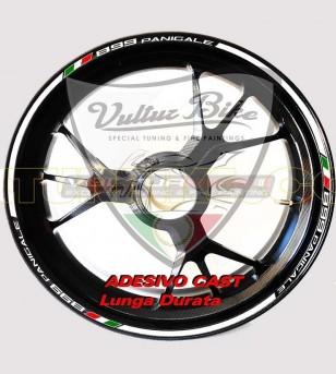 Perfiles adhesivos personalizables para llantas - Ducati Panigale 899/1199/1299/959