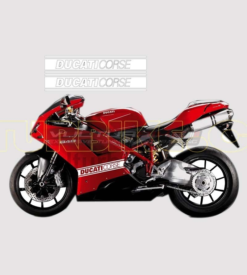 Side fairings colored stickers - Ducati 848/1098/1198