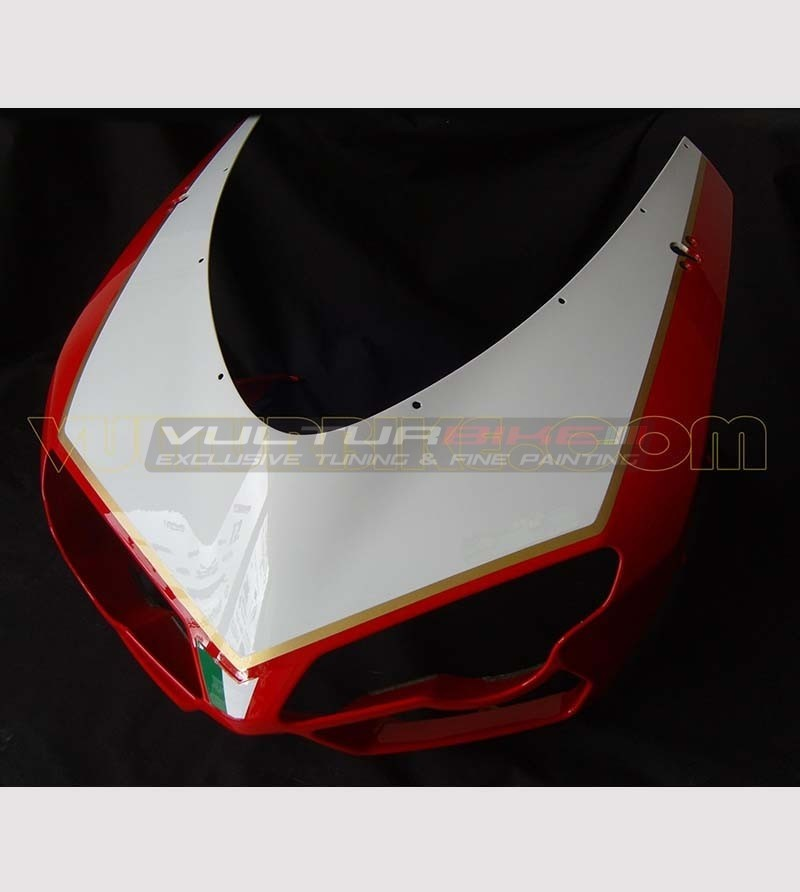 Customizable number holder sticker 1098R Look - Ducati 848/1098/1198