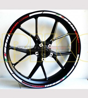 Customizable stickers Ducati Corse for wheels - Ducati