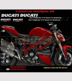 Stickers' kit compatible replica - Ducati Streetfighter