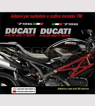 Stickers' kit compatible replica - Ducati Monster