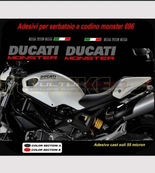 Kit adhesivo de réplica no original incompatible - Ducati Monster
