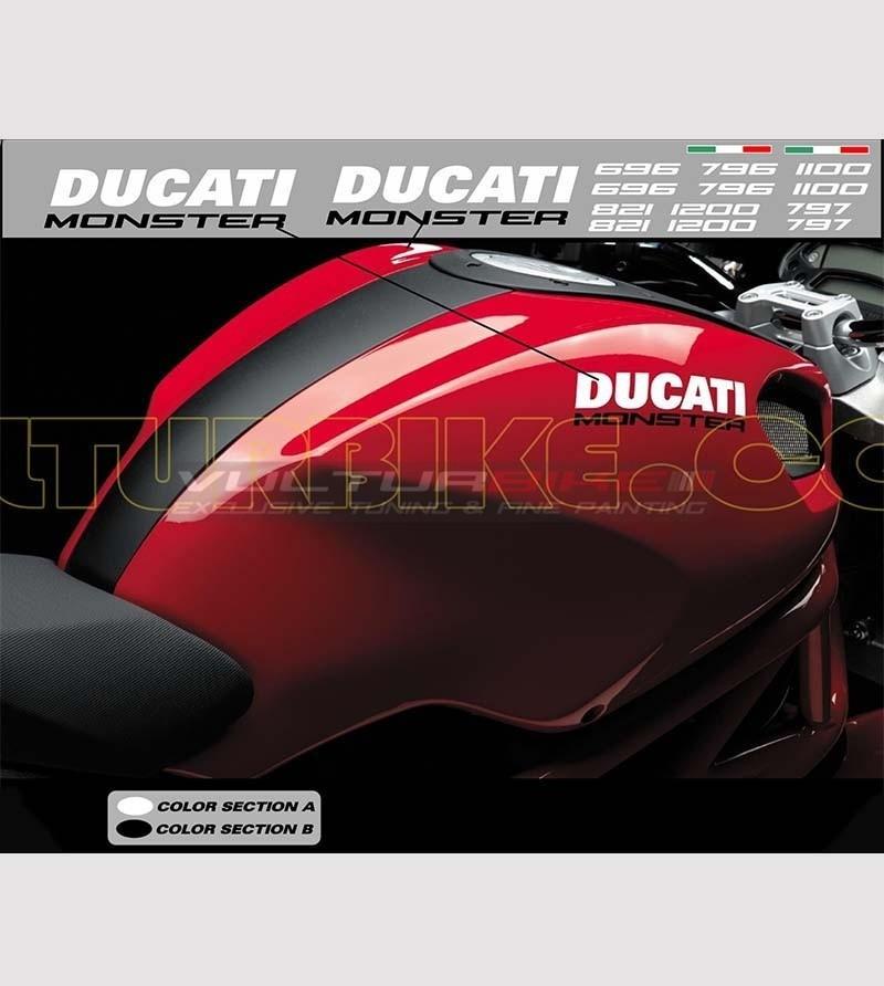 Stickers' kit compatible replica - Ducati Monster