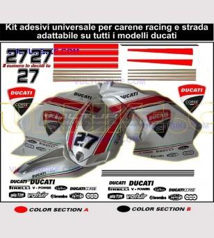 Kits de pegatinas personalizables universales para carenados Ducati