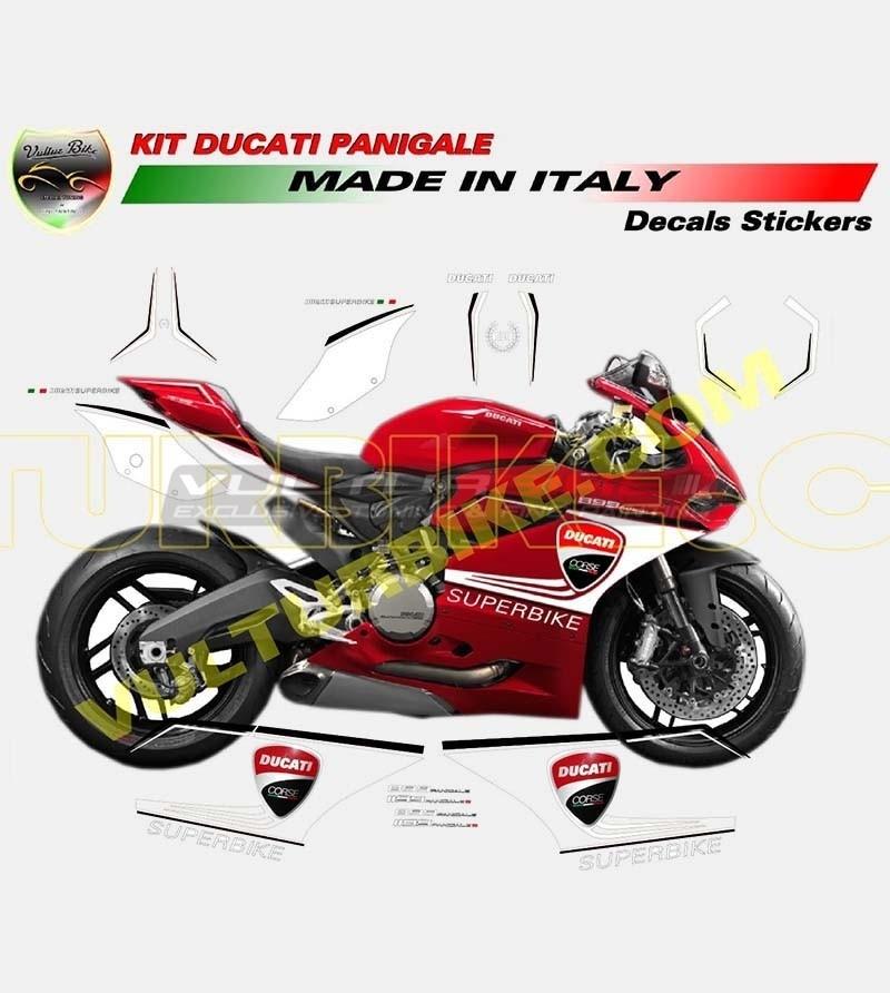 Kit de pegatinas Superbike coloreado - Ducati Panigale 899/1199-959-1299