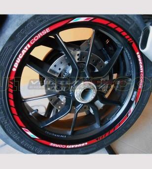 Perfiles adhesivos personalizables para llantas Ducati