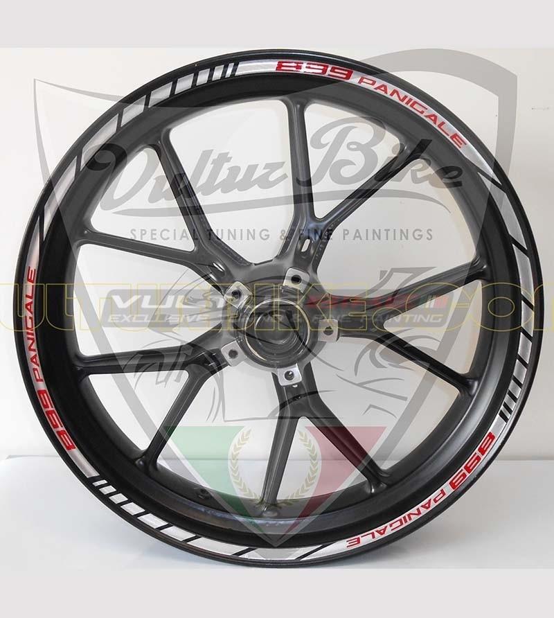 Profili adesivi personalizzabili per cerchi - Ducati Panigale