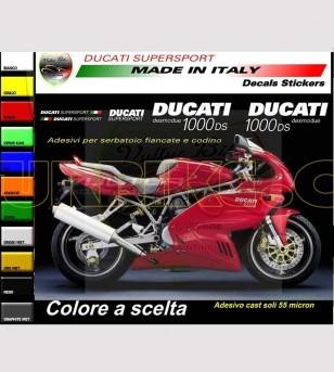 Adesivi personalizzabili codone e serbatoio - Ducati Supersport