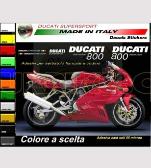 Tail and tank's customizable stickers - Ducati Supersport