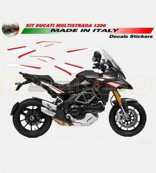 Kit adesivi bianco/rosso - Ducati Multistrada 1200 2010/14