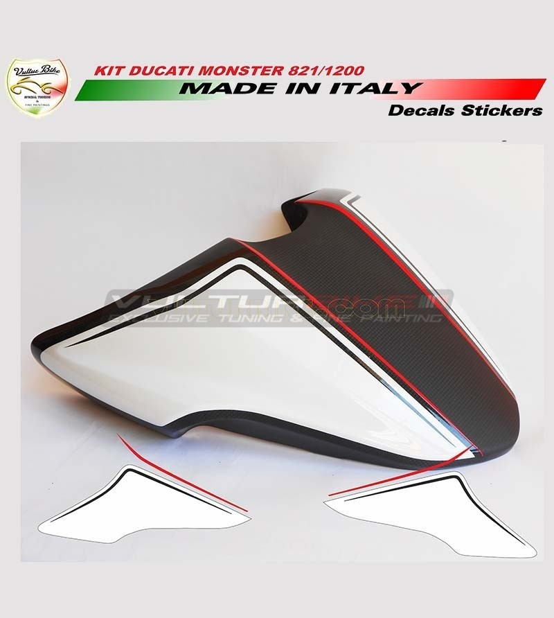 Tail's cover stickers - Ducati Monster 821/1200