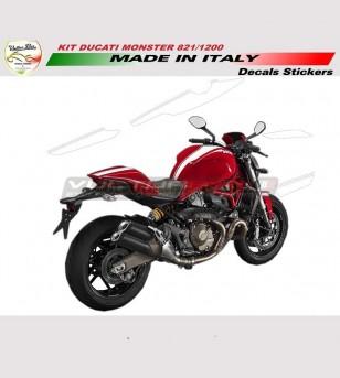 Kit de pegatinas Stripe Edition - Ducati Monster 821/1200