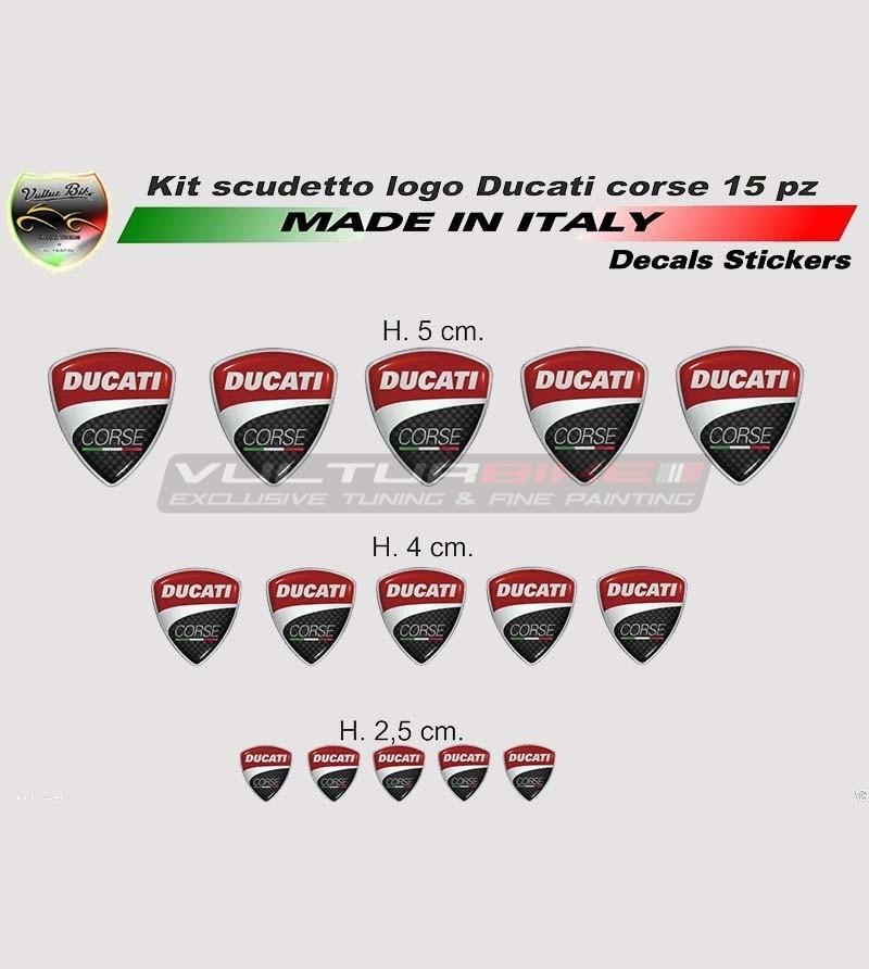Ducati Corse shield's stickers