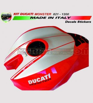 Pegatinas de depósito de aluminio - Ducati Monster 821/1200