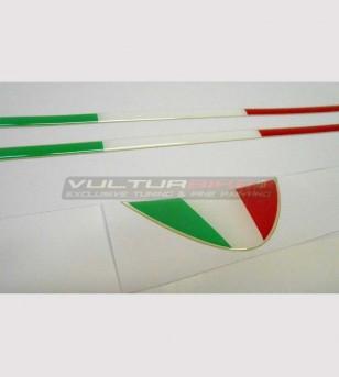 Adesivi bandiere resinate 3D - Ducati Panigale 899/1199/1299/959