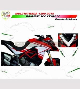 Kit adesivi design personalizzato - Ducati Multistrada 950/1200 DVT