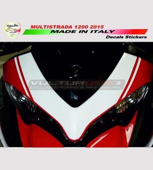 Colored front fairing's sticker - Ducati Multistrada 950/1200/1260/Enduro