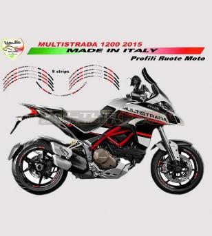 Adesivi rossoneri Ducati Corse per ruote moto