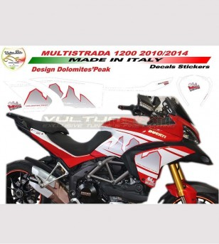 Stickers' kit Dolomites Peak design - Ducati Multistrada 1200 2010/14