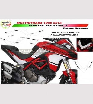 Stickers' kit brand new design w/b - Ducati Multistrada 1200 2015/17
