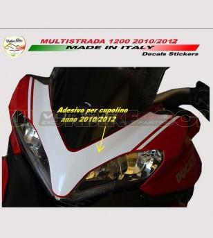 Adesivo per cupolino Pikes Peak - Ducati Multistrada 1200 2010/2014
