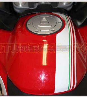 Tank's tricolor stickers - Ducati Multistrada 950/1260/1200 DVT