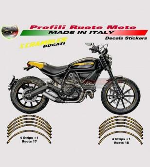 Stickers Profiles for wheels ocra yellow - Ducati Scrambler