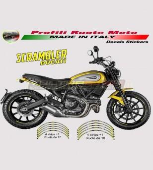 Profili Adesivi per ruote giallo limone - Ducati Scrambler