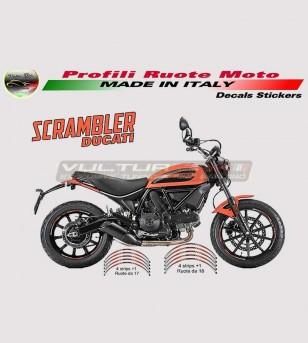 Profili Adesivi orange per ruote - Ducati Scrambler