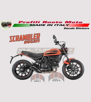 Stickers Profiles orange for wheels - Ducati Scrambler