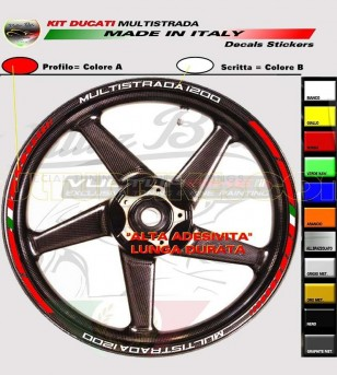 Customizable stickers for wheels with flag - Ducati Multistrada 1200
