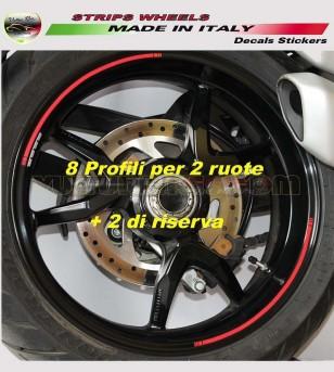 Adesivi universali colorati per ruote Ducati 3 misure