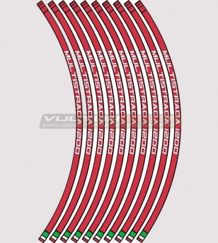 Adesivi per ruote tutti modelli - Ducati Multistrada