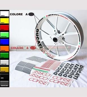 Perfiles de pegatinas Ducati Corse personalizables para ruedas